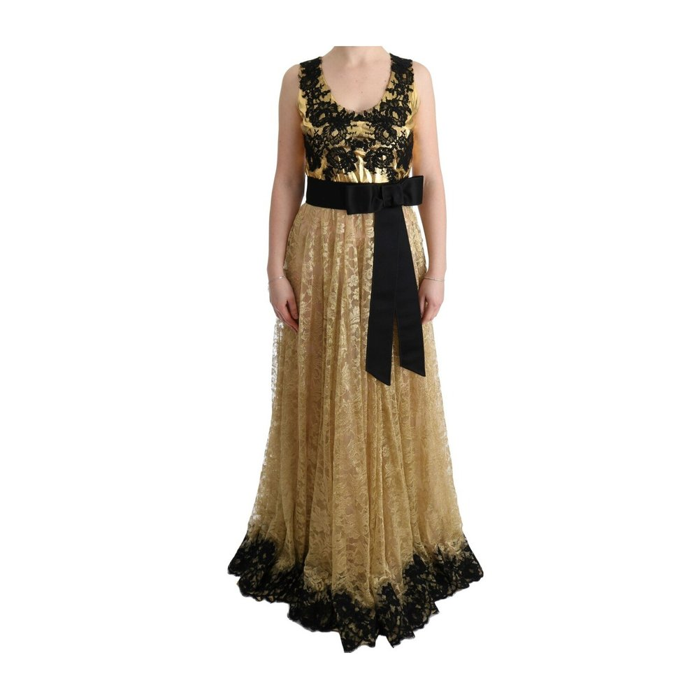 Gold Floral Lace Gown Dress  Dolce & Gabbana  Gallakjoler