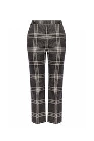 Creased patterned trousers