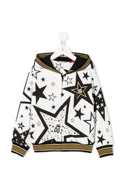 Full zip hooded sweatshirt star macro