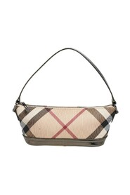 Pre-owned Nova Check Coated Canvas and Patent Leather Baguette Bag
