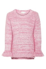 Pullover floral embroidered knit