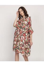 Sukienka koszulowa w róże
