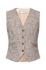 Vest with silk back