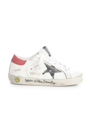 SUPERSTAR PRINT STAR SIGNATURE FOXING sneakers
