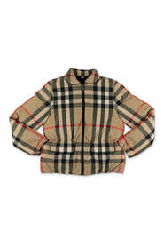 MOLLIE Vintage Check down feather filling Jacket
