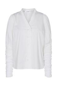 Hvit Co`Couture Sandy V-Frill Shirt Bluse