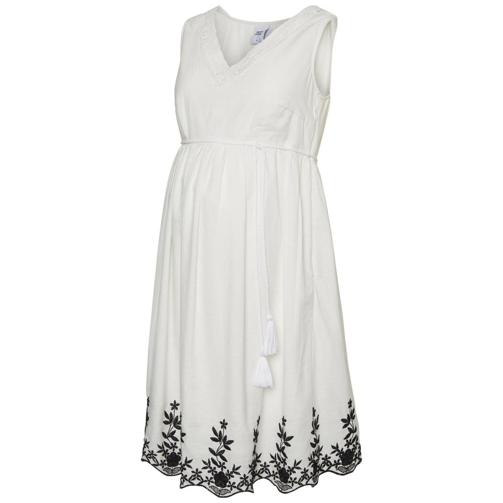 Maternity dress Woven Embroidery detailed
