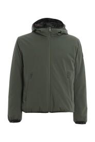 Tech stof jack met hoodie
