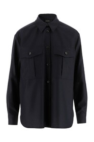 Shirt Collar Button closure Long sleeves Two patch pockets