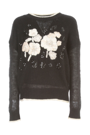 CREW NECK SWEATER W / EMBROIDERY