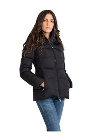 Short down jacket with removable hood