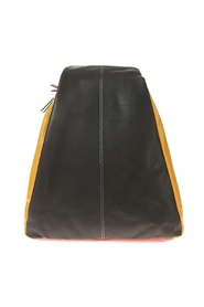 Large combi backpack in leather