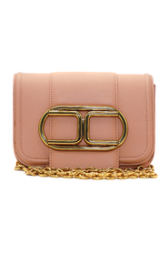 Mini clutch bag with chain shoulder strap and maxi logo