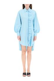 shirt dress with ruffles