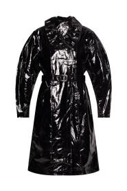 epanima coated linen trench coat
