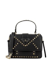 Faux leather bag with studs