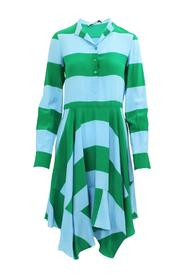 Silk Flattering Striped Dress