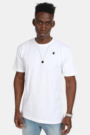 Le Fix Kaj Embroidery Tee White
