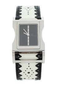 Pre-owned  Stainless Steel Leather Chris 47 CD033110 Wristwatch
