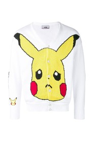Pikachu embroidery cardigan