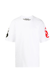 T-SHIRT WITH DOUBLE COLOR FIRE