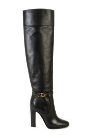DG Buckle Knee-High Boots