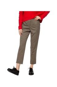 Spodnie cygaretki w pepitkę