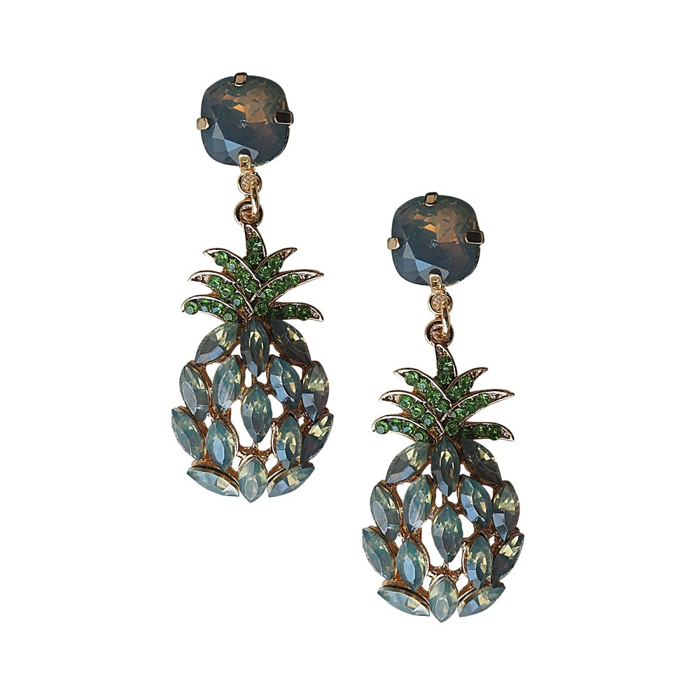 GREY Pineapple Earrings