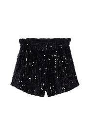Ruched sequin shorts