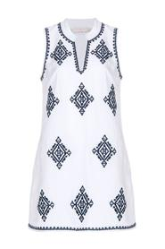 Linen blend Dress with Embroidery