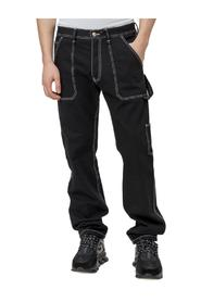 Contrast Stitching Jeans