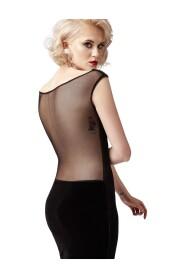 Sukienka z transparentną siatką na plecach