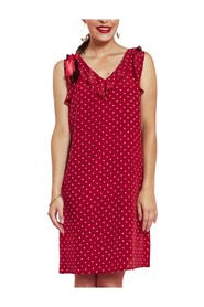 Silk dress with dots