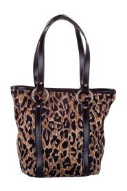 Leopard Print Pony Hair Tote Bag