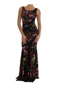 Silk Stretch Purple Tulip Dress