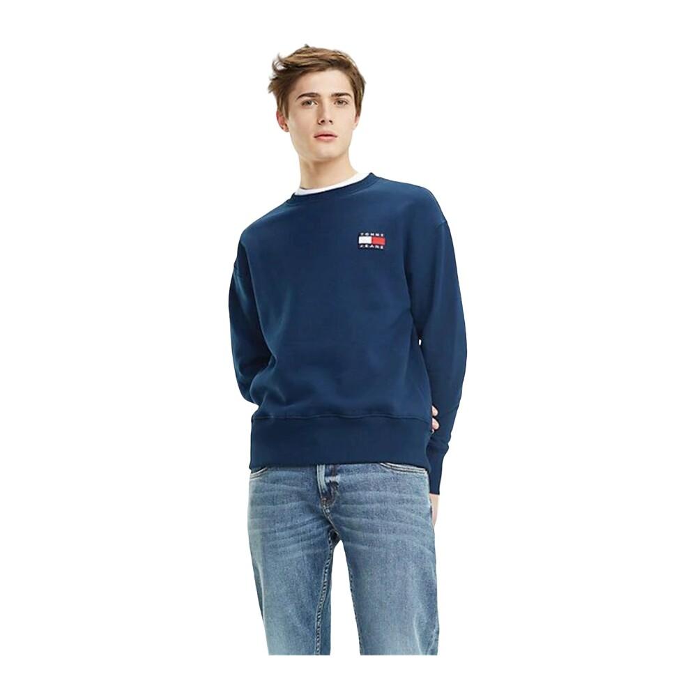 Tommy Jeans Dm0Dm06592 Tommy Badge Crew Sweater Men Black Iris
