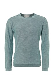 No Excess Pullover, R-Neck rolli, slub, gd + stone washed