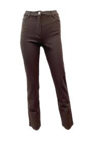 4135 1801 Bruine broek perfect body met strass.