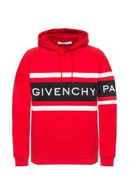 Hoodie with tactile logo