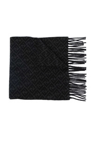 FF-motif knitted scarf