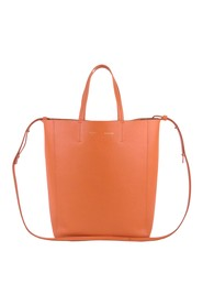 Small Vertical Cabas Leather Satchel