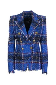 Tweed double-breasted blazer