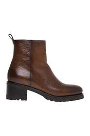 Leather ankle boot with 50 mm heel