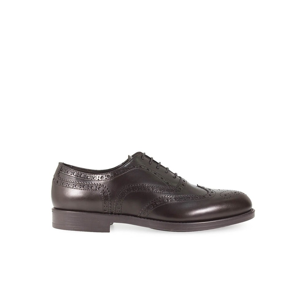LEATHER FULL BROGUE LACE UP SHOES