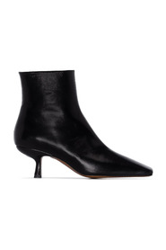LONG CREASED LEATHER BOOTS
