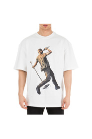 men's short sleeve t-shirt crew neckline jumper Kanye Drake