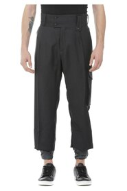 Trousers with belt loops at the waist