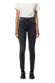 Black high waist skinny jeans - hightop tilde night spirit