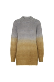 Angelica Stripe Dye A-line Sweater