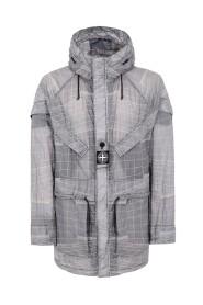 Parka jakke med hætte
